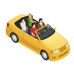 car pooling icono