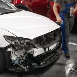 coche destrozado