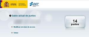 DGT multas y puntos