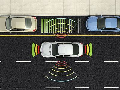 Sensor de aparcamiento en el coche