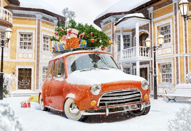 Transportar el árbol de Navidad